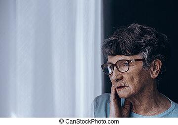 Senior suffering from depression