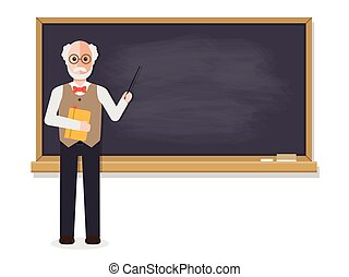 Senior teacher teaching in classroom