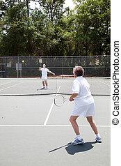 Senior Tennis Match