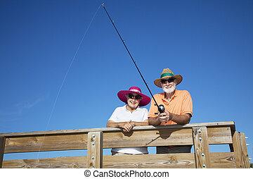 senior, toeristen, visserij