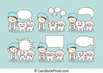 senior tooth with speech bubble