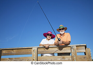 Senior Tourists Fishing
