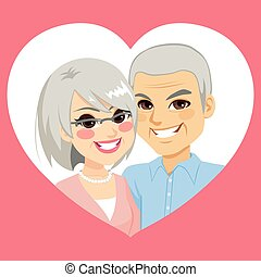 Senior Valentine Married Couple Heart