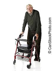 senior-walker, passear