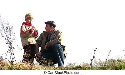 senior with child