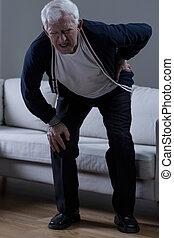 Senior with rheumatism - Senior suffer from rheumatism