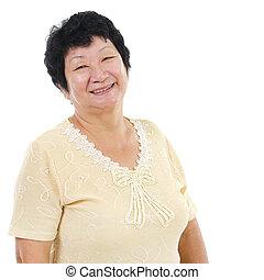 senior woman, ázsiai