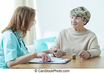 Senior woman at doctor's office