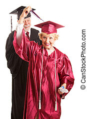 Senior Woman at Her Graduation Ceremony