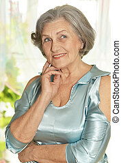 Senior woman at home