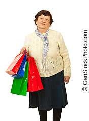 Senior woman at shopping