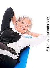 Senior woman at workout