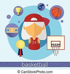 Senior Woman Basketball Player Icon