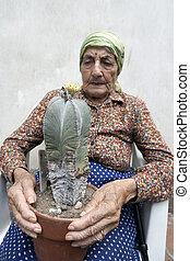 senior woman Cactus