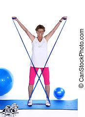 senior woman doing sport