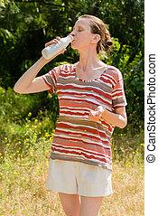 Senior Woman Drinking