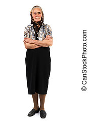 Senior woman full length portrait