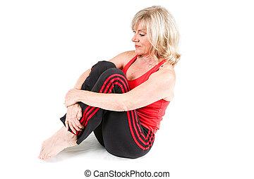 senior woman, gyakorlás