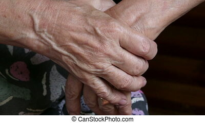 Senior woman hands