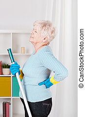 Senior woman having back pain