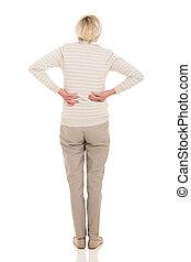 senior woman having backache