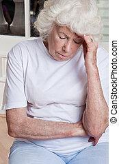 Senior Woman having Headache