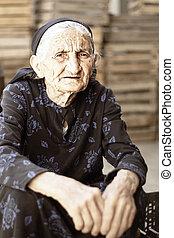 Senior woman in dress