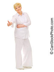 Senior woman isolated