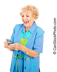 Senior Woman Loves Texting