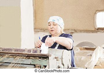 Senior woman making notes