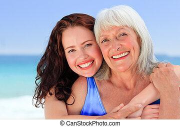 senior woman, noha, neki, lány