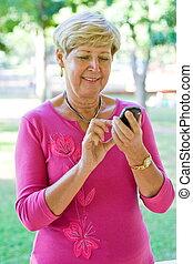 senior woman on cellphone