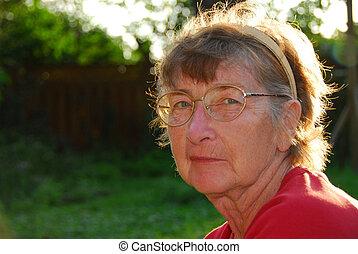 Senior woman - Portrait of a senior woman outside