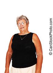 Senior woman portrait.
