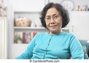 Senior woman relax at home