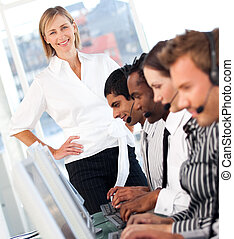 Woman showing leadershp in business