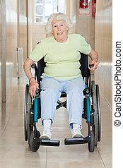 Senior Woman Sitting In a Wheel Chair