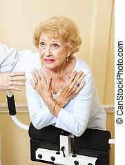 Senior Woman Spine Stretch