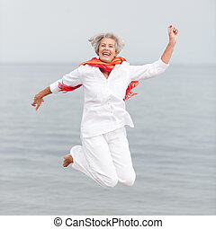 Senior woman - Active and happy senior woman