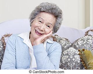 senior woman - portrait of an asian senior woman.