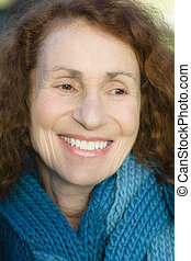 Senior Woman - Portrait of a Pretty Smiling Senior Woman
