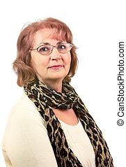 Senior Woman - Portrait of senior woman with glasses...