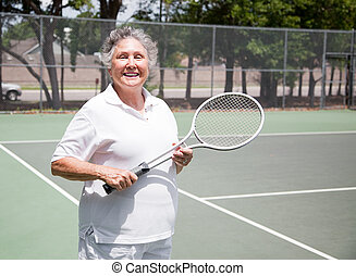 Senior Woman Tennis Player