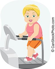 Senior Woman Treadmill