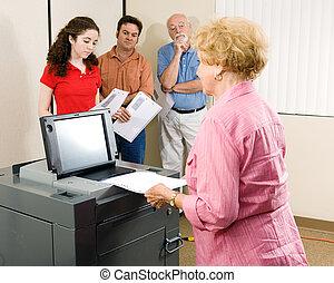 Senior Woman Votes
