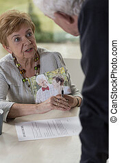 Senior woman wants divorce