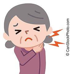 Senior women who have neck pain
