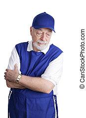 Senior Worker - Sad & Tired