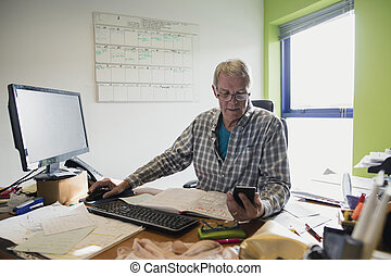 Senior Working From Home