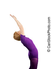 Senior Yoga - Salute to Sun - A seventy year old senior lady...